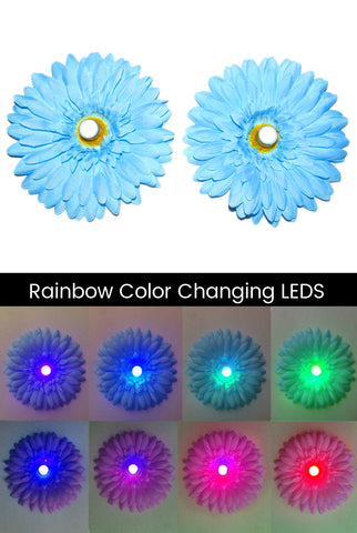 Image of LED Light-up Daisy Pasties - Blue