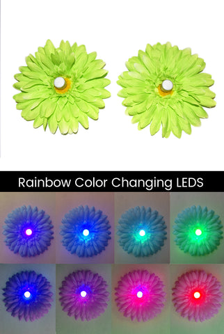 Image of LED Light-up Daisy Pasties - Green