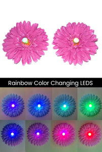 LED Light-up Daisy Pasties - Pink