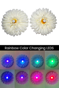 LED Light-up Daisy Pasties - White