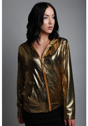 Image of Light-up Disco Hoodie Gold
