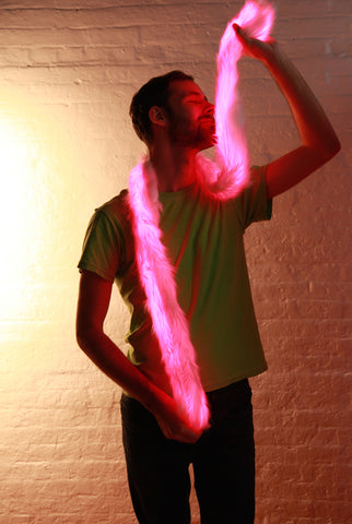 Image of Light Up Glow Fur LED Boa Scarf