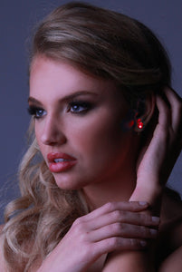 LED Earrings-Red