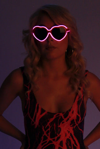 Image of Light-up Heart Glasses