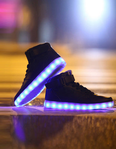 Image of Light-up Hightop Shoes – Black