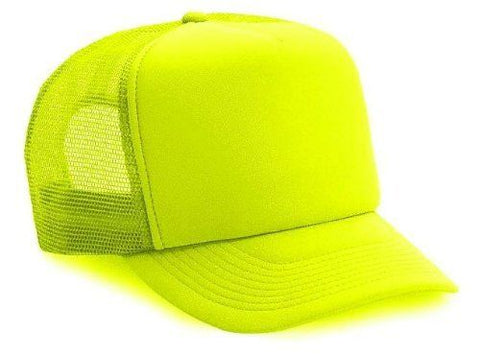 Neon Trucker Hat-Neon Yellow