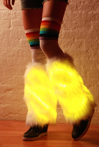 Image of Light-up LED Fur Leg Warmers