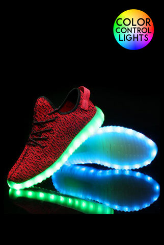 Light-up Sneakers Red