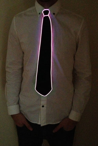 Image of Light-up Neck Tie - Pink