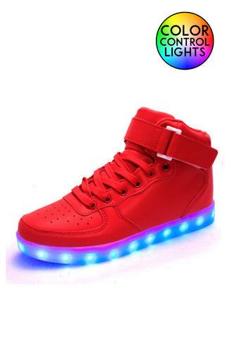 Light-up High Top Shoes Red