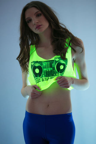 Turntable Crop Top Yellow