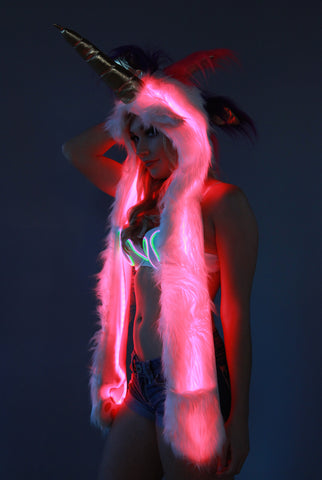 Image of Unicorn Hood Glow Fur