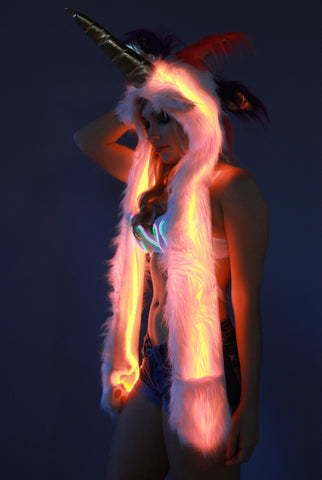 Unicorn Hood Glow Fur