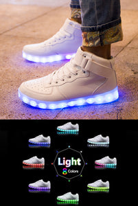 Light-up Hightop Shoes - White