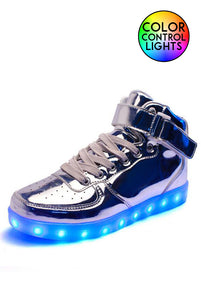 Light-up High Tops Silver