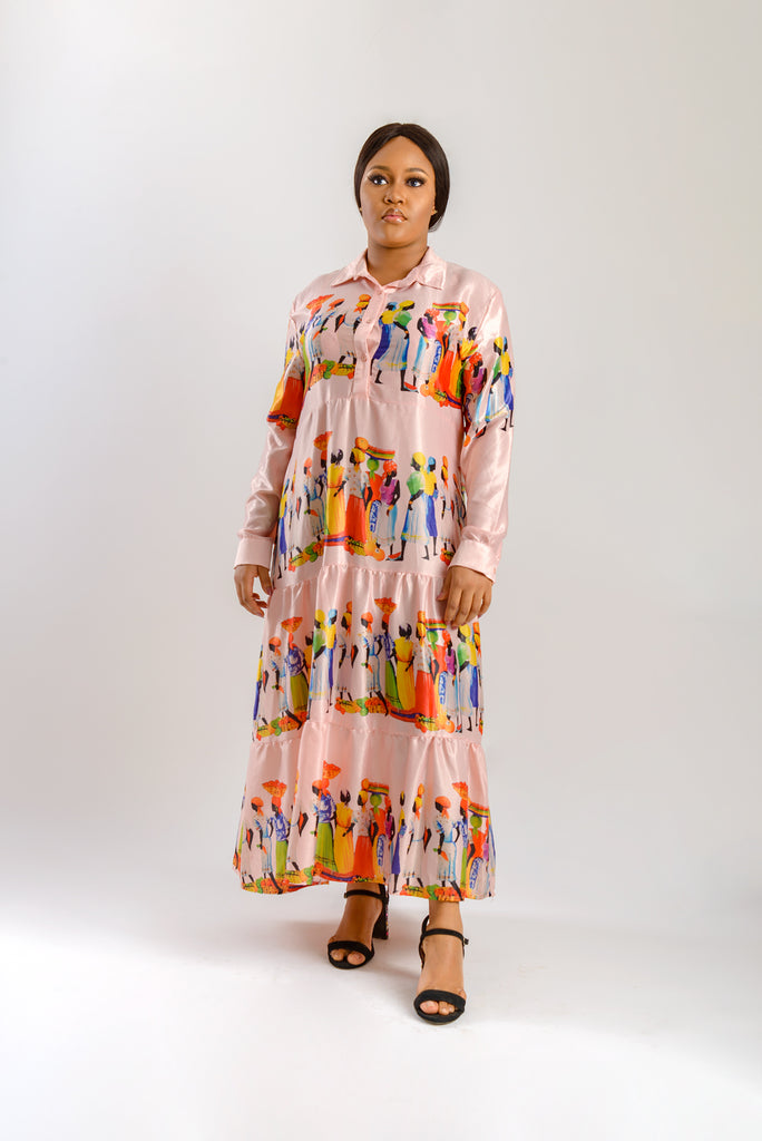 NANA YAA DRESS - PINK