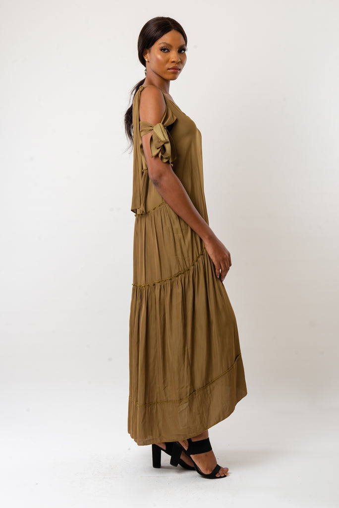 ANSLEY DRESS - BROWN