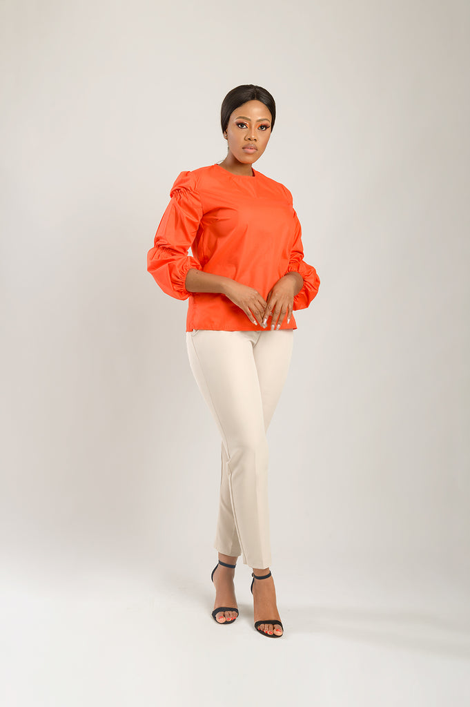 MANDI BUBBLE SLEEVE SHIRT