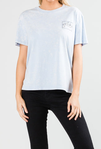 WIRED SHORT SLEEVE TEE - PALE SLATE
