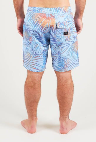 PIXEL PALM BOARDSHORT - BLUE MOON