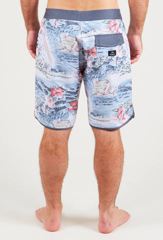 NORTH SHORES SCALLOP BOARDSHORT - BLACK