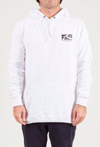 OIL SLICK HOODED FLEECE - WHITE
