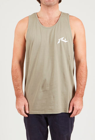 ONE HIT WONDER TANK - FADED OLIVE