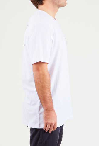 FAR NORTH SHORT SLEEVE TEE - BRIGHT WHITE