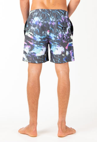 ACID STORM ELASTIC BOARDSHORT - BLACK