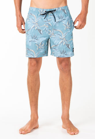 POOLSIDE ELASTIC BOARDSHORT - OIL BLUE