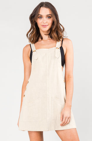 HEARTBREAKER PINAFORE DRESS - LIGHT FENNEL