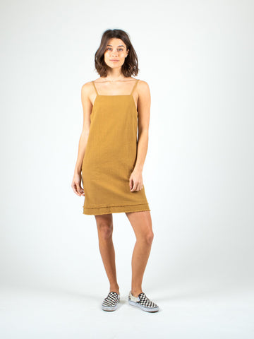 HEARTBREAKER MINI DRESS - CAMEL