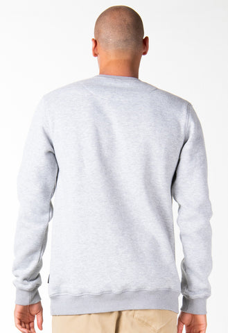 ONE HIT WONDER CREW FLEECE - GREY MARLE