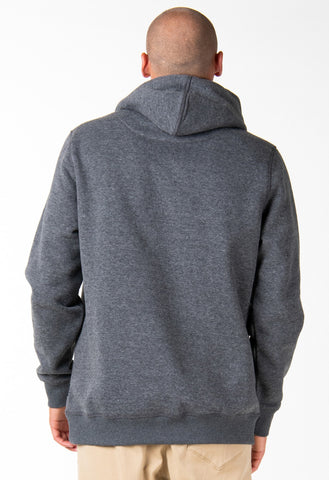 ONE HIT WONDER HOODED FLEECE - DARK GREY MARLE