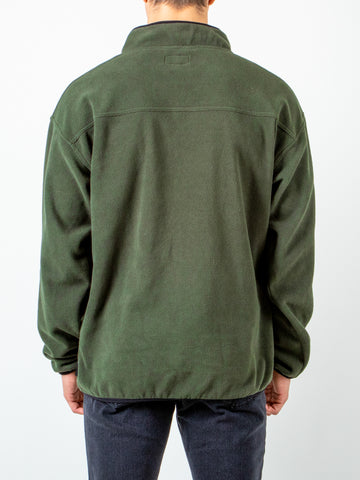 POLARIZED 1/4 ZIP FLEECE - GUN GREEN