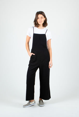 HEARTBREAKER CROP JUMPSUIT - BLACK