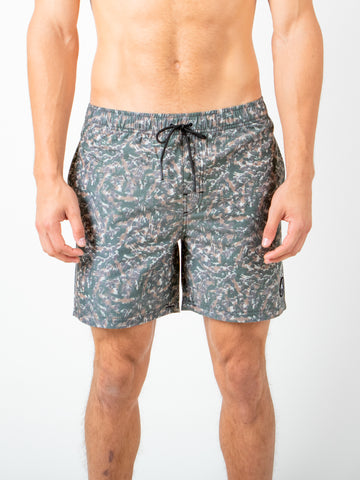 WALL FLOWER ELASTIC BOARDSHORT - SAVANNA