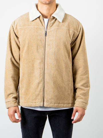 BIG WHALE CORD JACKET - LIGHT FENNEL