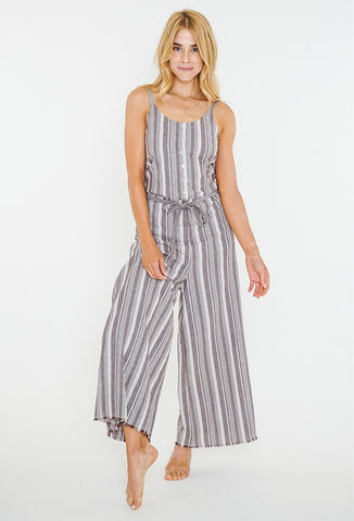SURROUNDINGS JUMPSUIT - COFFEE BEAN