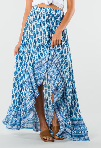 BISCAY MAXI SKIRT - INK BLUE