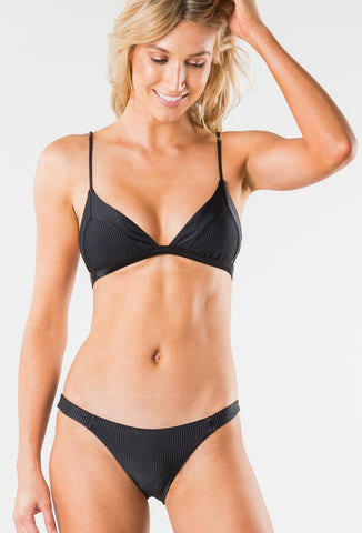CRUISE 2 FIXED TRIANGLE BIKINI TOP - BLACK