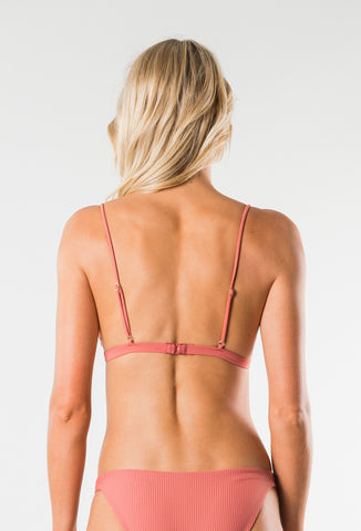 CRUISE 2 FIXED TRIANGLE BIKINI TOP - TERRACOTTA