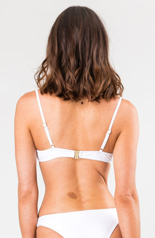 STELLA RING TRIANGLE BIKINI TOP - BRIGHT WHITE
