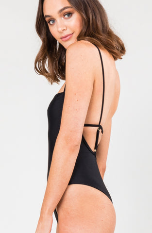 STELLA NINETIES ONE PIECE - BLACK