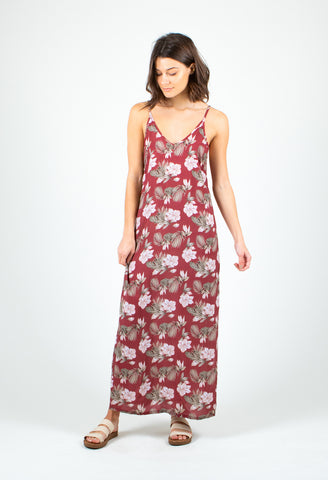 SHADY MIDI DRESS - SIENNA TROPICAL