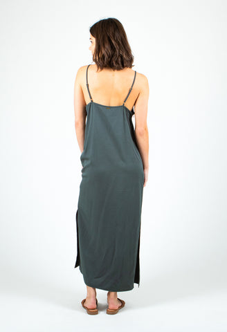 SHADY MIDI DRESS - FOREST TEAL