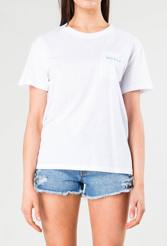 EASTERN SHORT SLEEVE POCKET TEE - WHITE