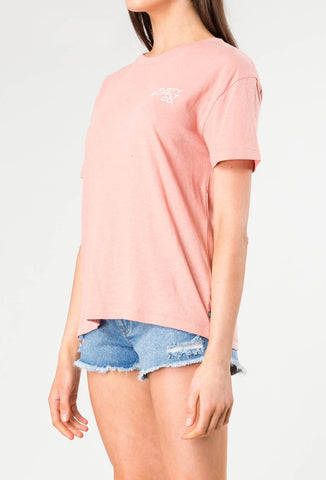 SUNRISE SHORT SLEEVE TEE - ROSE DAWN