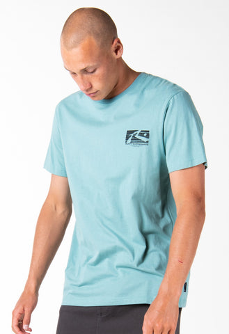OIL SLICK SHORT SLEEVE TEE - OIL BLUE
