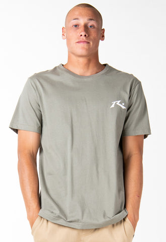 ONE HIT WONDER SHORT SLEEVE TEE - FADED OLIVE